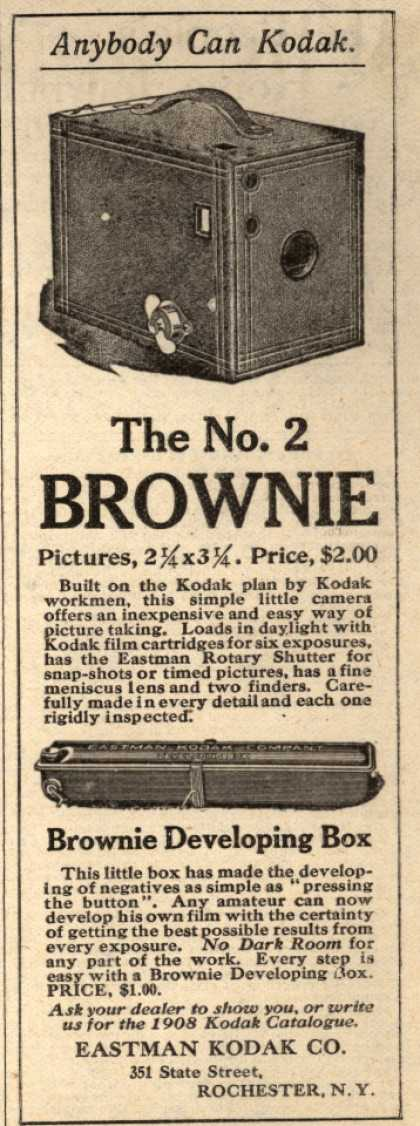 Kodak's Brownie cameras – The No. 2 Brownie (1908)