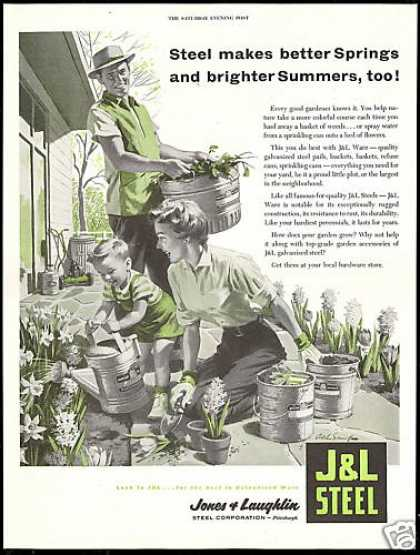 J & L Steel Jones & Laughlin Gardening Art (1955)
