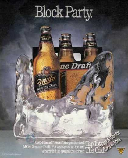 Miller Genuine Draft Beer In Ice Block Party (1989)