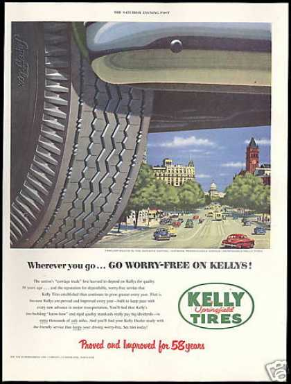 Washington DC Pennsylvania Ave Kelly Tire (1952)