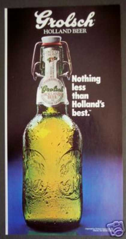Grolsch Holland Beer Pint Bottle Photo (1985)