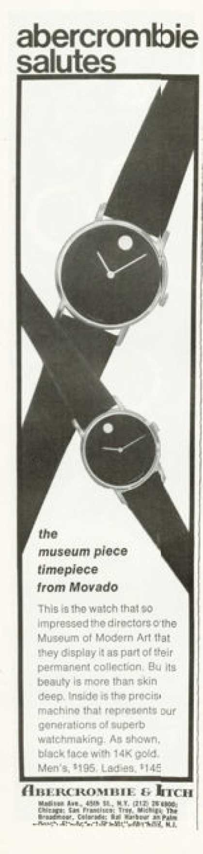 Abercrombie & Fitch Movado Watch (1972)