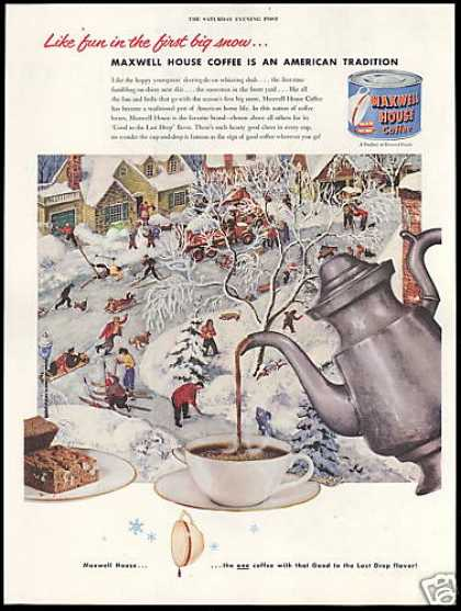 Maxwell House Coffee First Big Snow Town (1952)