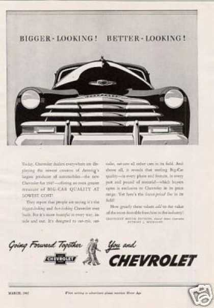Chevrolet Car Ad 2 Page (1947)