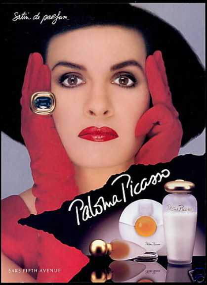 Paloma Picasso Photo Satin De Perfume (1993)