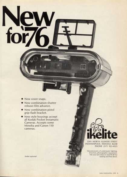 Ikelite Underwater Camera Housing Ad T (1976)