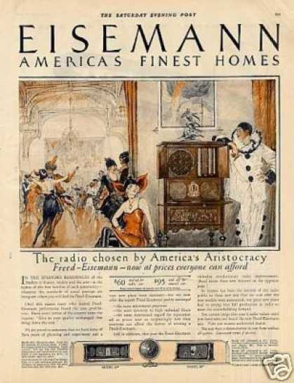 Freed-eisemann Radio Color Ad 2 Page (1926)