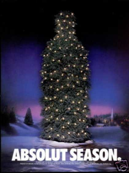 Absolut Season Vodka Christmas Tree Bottle (1990)