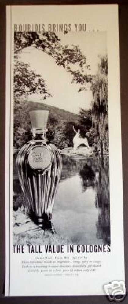 Bourjois On the Wind Cologne Bottle (1957)
