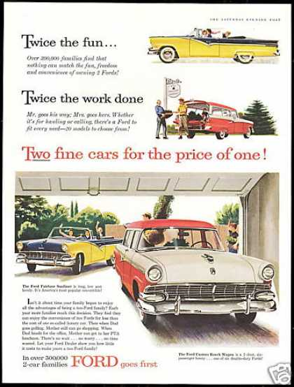 Ford Fairlane Sunliner & Ranch Wagon Car (1956)