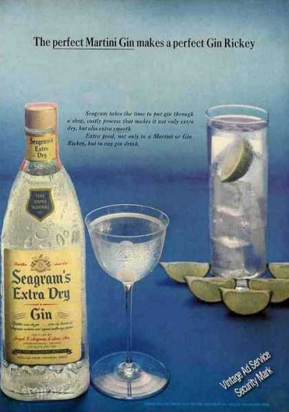 "Seagram's ""The Perfect Martini Gin"" Gin Rickey (1964)"