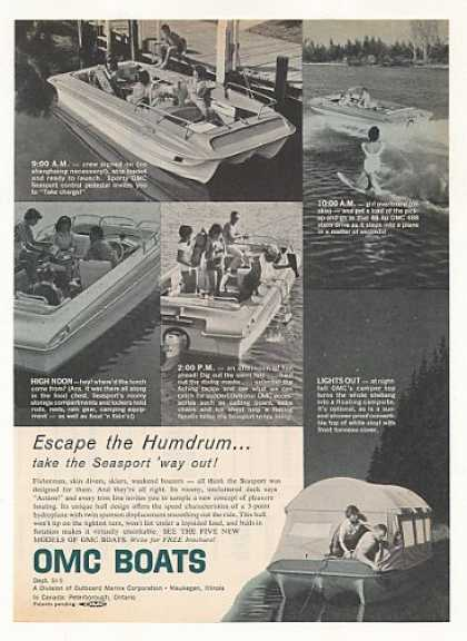 OMC Boats Seasport Boat Escape Humdrum (1963)