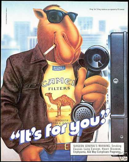 Joe Camel Cigarettes Pay Telephone (1990)