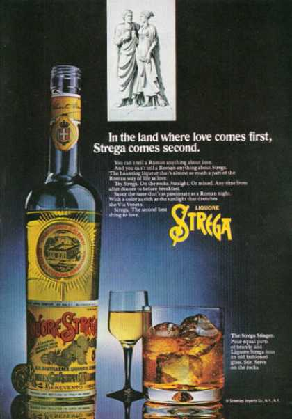 Roman Strega Liquore Bottle (1972)