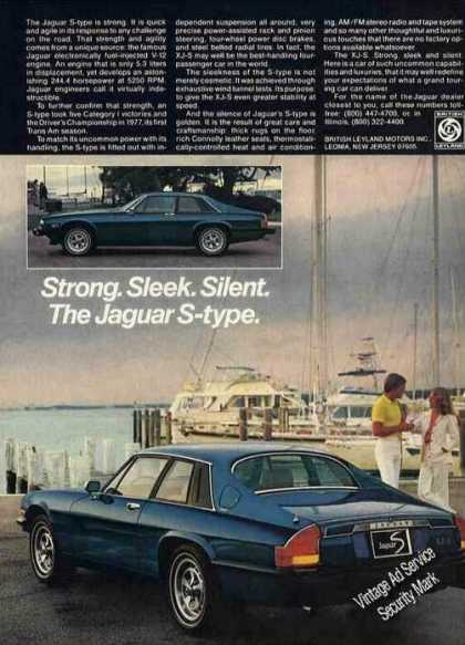 "Jaguar S-type at Marina ""Strong Sleek Silent"" (1978)"