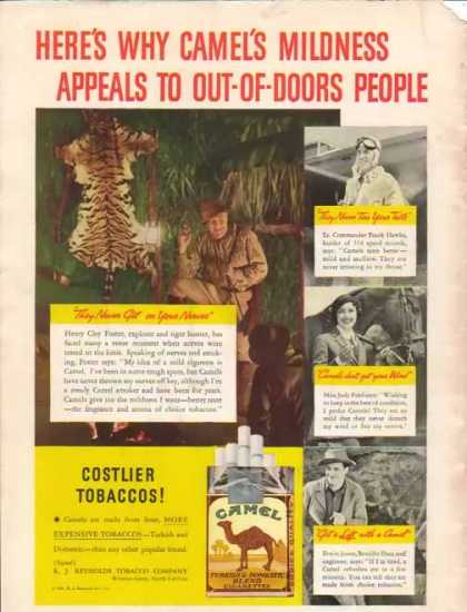 Camel Cigarettes – Appeals to out-of doors people (1935)
