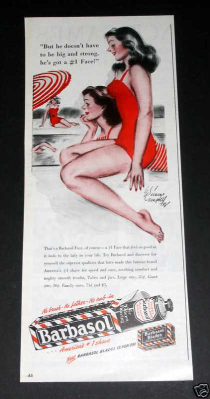 Old , Barbasol, Pin-up Art (1946)