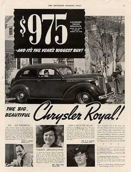 Chrysler Royal Touring Brougham Car (1938)