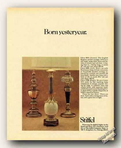Stiffel Lamps Photo Born Yesteryear Collectible (1973)