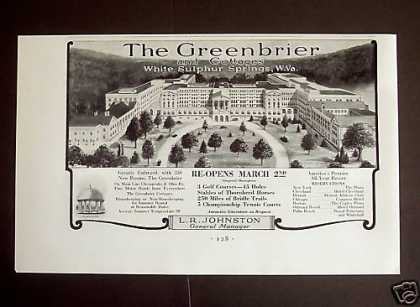 Greenbrier and Cottages West Virginia Travel (1931)