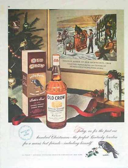 Old Crow Christmas – National Distillers (1949)