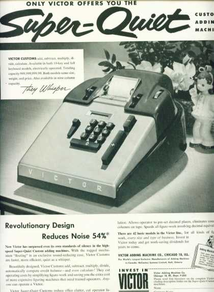 Victor Super Quiet Custom Adding Machine (1952)