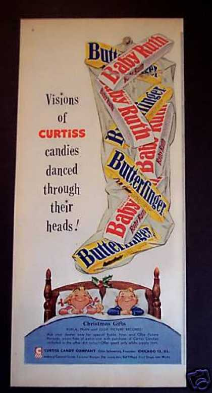 Curtiss Candy Baby Ruth Butterfinger (1955)