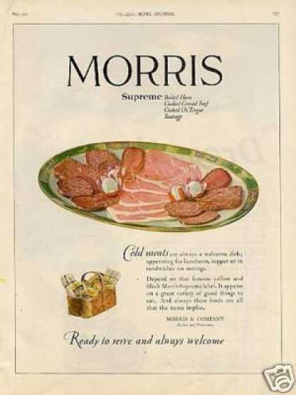 Morris & Company Meats Color (1921)