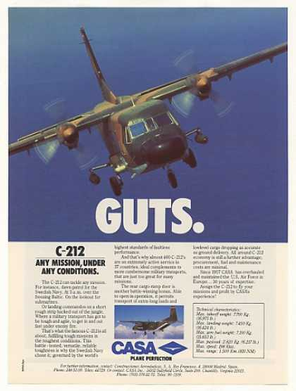CASA C-212 Military Aircraft Photo (1987)