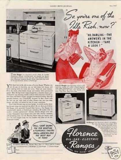 Florence Electric Range (1940)