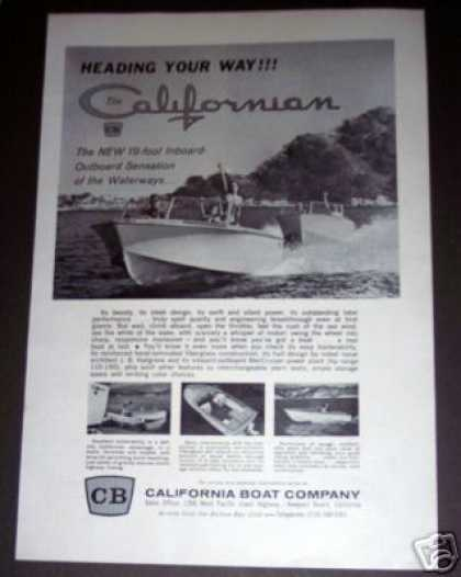 California Boat Californian 19' Cruiser (1964)