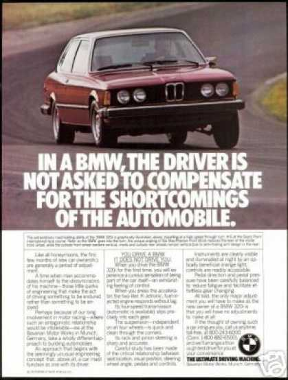 Red BMW 320i 320-i Vintage Photo (1978)