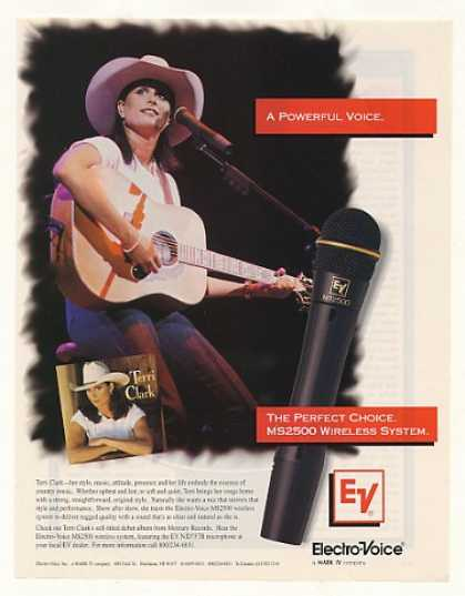 Terri Clark Electro-Voice Microphone Photo (1996)