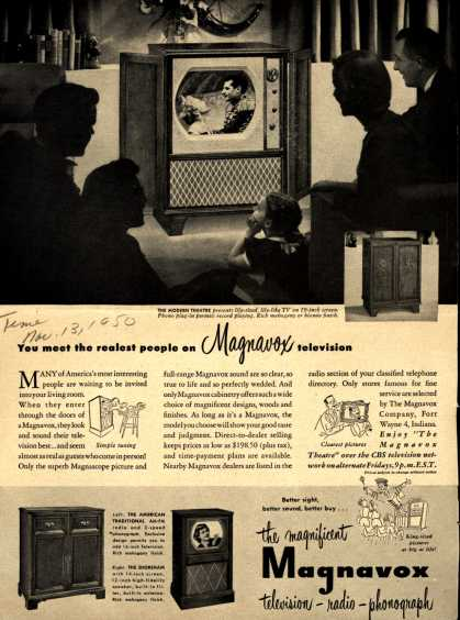 Magnavox Company's various – You meet the realest people on Magnavox television (1950)