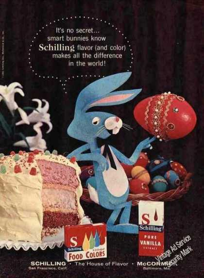 "Schilling Flavor & Color Cute ""Smart Bunny"" (1961)"