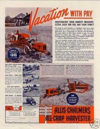 Allis-chalmers All-crop Harvesters (1940)