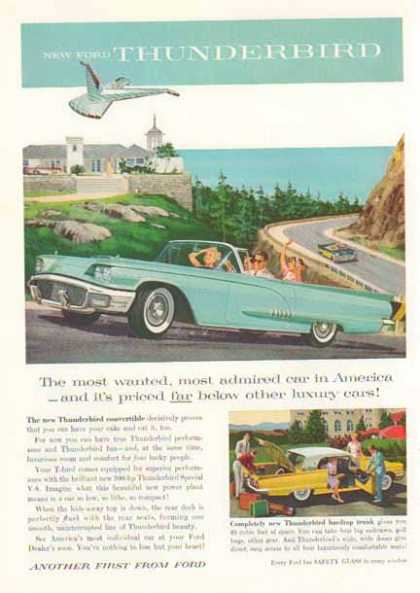 Thunderbird Convertible Car – Light Blue (1958)