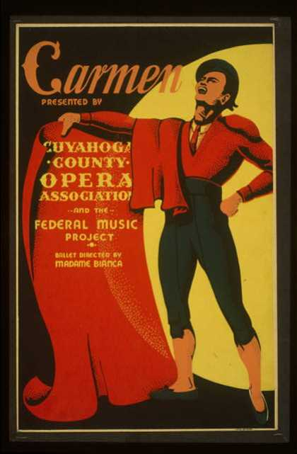 """Carmen"" – Presented by Cuyahoga County Opera Association and the Federal Music Project – Ballet directed by Madame Bianca. (1939)"