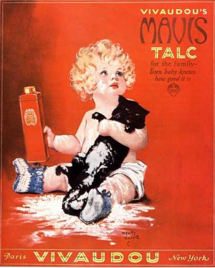 Mavis Talc Cats Talcum Powder, USA (1920)