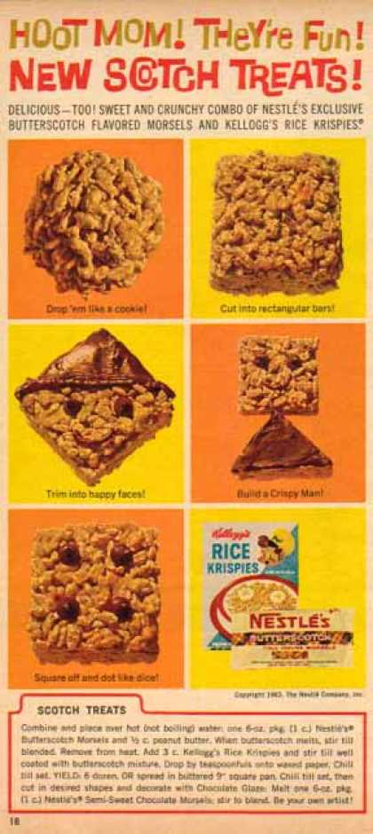 Kellogg's Scotch Treats Recipe – Sold (1963)