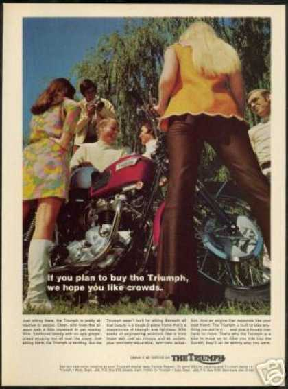 Triumph Motorcycle Mod Dress Go-Go Boots (1969)
