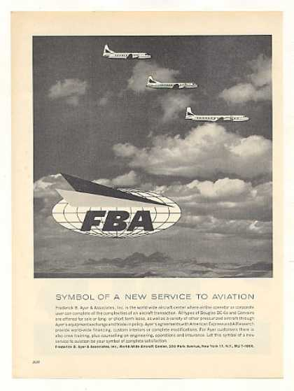 FBA Symbol Frederick B Ayer Associates Aviation (1959)