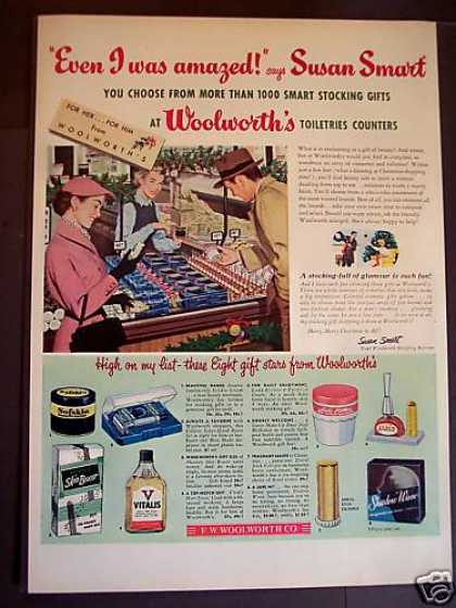Woolworth's Cosmetics & Toiletries X-mas (1952)