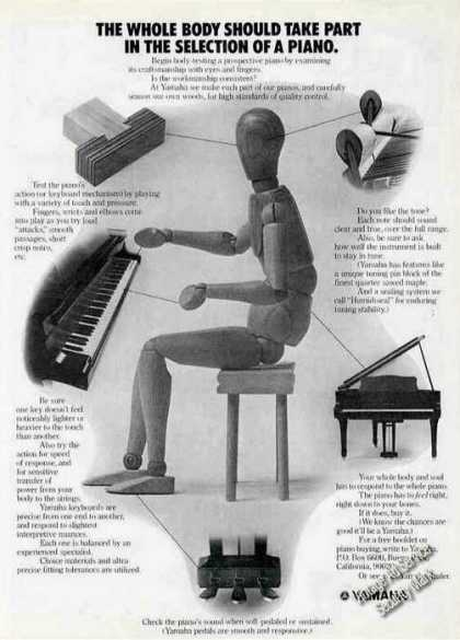"Yamaha Pianos ""The Whole Body Should Take Part"" (1973)"
