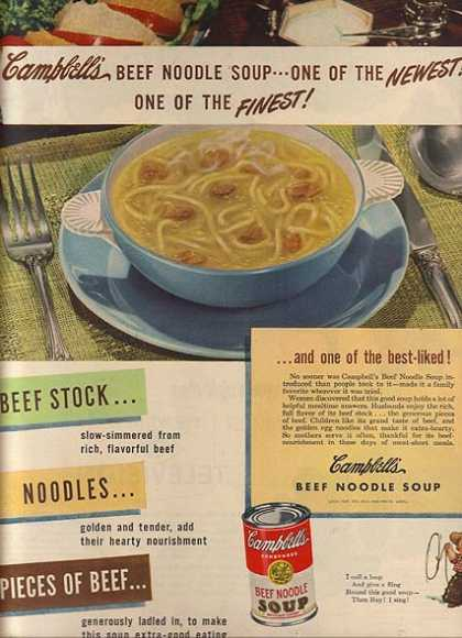 Campbell's Beef Noodle Soup (1949)