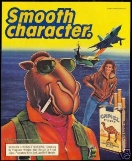 Joe Camel Aircraft Carrier Cigarette (1990)