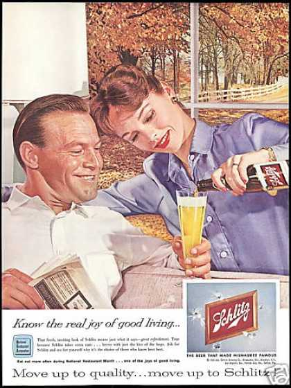 Schlitz Beer The Real Joy of Good Living (1959)