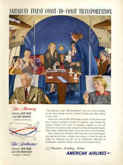 American Airlines Southerner Dc-6 First Class (1951)