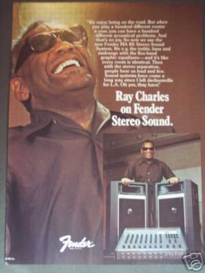 Ray Charles Photo Fender Sound System (1979)