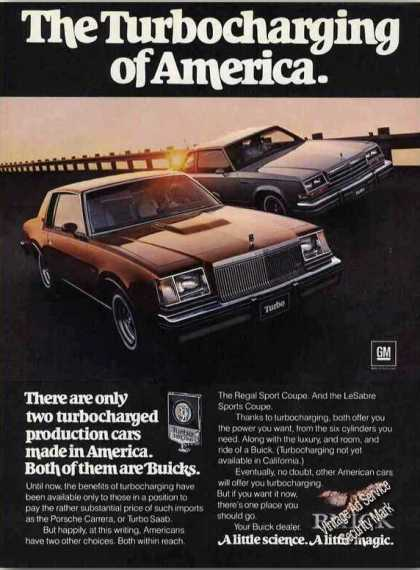 Buick Regal Sport Coupe Turbocharging America (1978)